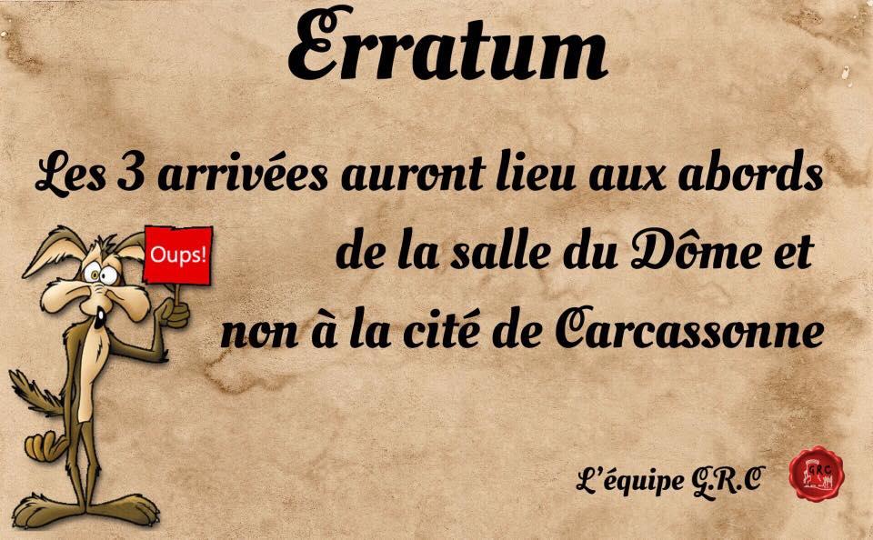 Arrivée dôme Carcassonne